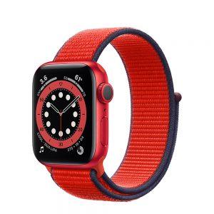 ساعت هوشمند اپل واچ سری 6 آلومنیوم قرمز با بند اسپرت لوپ