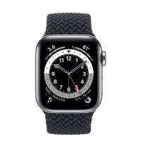 ساعت هوشمند اپل واچ سری 6 آلومنیوم نقره ای با بند بریدد سولو لوپ